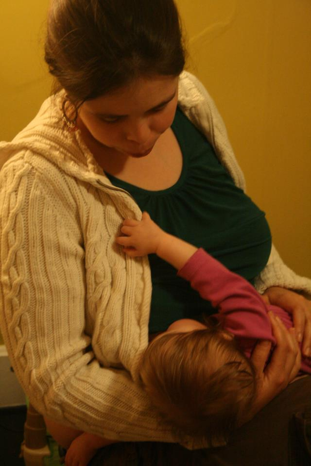 Savvy breastfeeding Dayenu at her first Seder meal